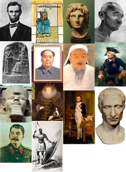 Image of a collage of a number of transformational leaders from previous centuries.